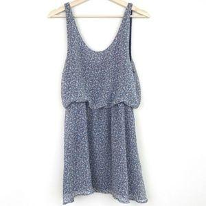THML Dusty Blue Floral Dress